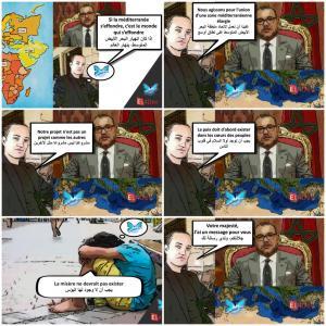 Le projet du PAPILLON SOURCE MEDITERRANEE au Maroc. Paul Elvere Valerien DELSART sadresse à SA MAJESTE LE ROI DU MAROC MOHAMMED VI.